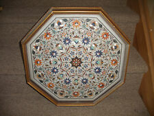 Octagonal top for coffee table pietra dura handmade  stone inlay art