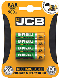 JCB Rechargeable NiMH 1.2v 900 mAh AAA Cordless Phone Replacement Batteries
