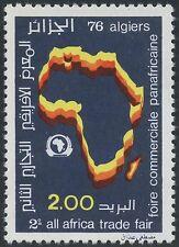ALGERIE N°648**  Foire commerciale Panafricaine, CARTE,  1976 ALGERIA Map MNH