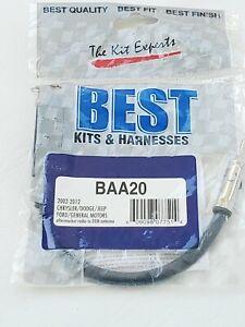 Best Kit  BAA20 Chrysler Jeep Ford Gm 2002-12 Aftermarket Radio Antenna Adapter