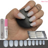 50x SHORT OVAL - OPAQUE FALSE NAILS - FULL COVER - Fake Natural Tips ✅ FREE GLUE