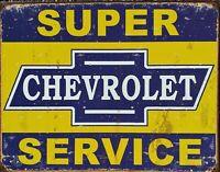 PLAQUE métal USA vintage CHEVROLET SERVICE - 40 X 30 cm