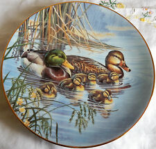 """'FAMILY OUTING' A Loving Look: Duck Families Collection Plate (8.5"""" 1991) w/COA"""