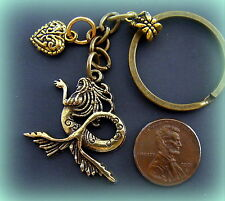 Mermaid Nude Sea Nymph Jewelry Antique Art Nouveau Victorian Style Keychain