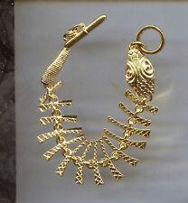 KENNETH LANE GOLD FISH SKELETON  bracelet