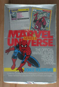 1991 IMPEL MARVEL UNIVERSE SERIES II CARDS 36 PACK - FULL BOX - FACTORY SEALED