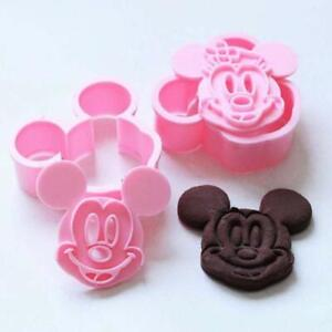 Cute Mickey/ Minnie Mouse Decorating Cookie Cutters and Stamps Easy baking