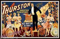 Wall Art - Magician Thurston 1910 Magic Poster    11x17