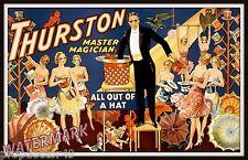 Historical Wall Art Magician Thurston 1910 Magic Poster    11x17