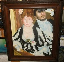 """KENNTH AFTER RENOIR """"AT THE THEATRE"""" OIL ON CANVAS LARGE PAINTING"""
