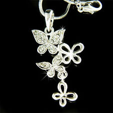 ~BUTTERFLY~ made with Swarovski Crystal Bridal Love Sister Best Friends Necklace