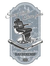 Barbiers Clean Shaves Sharp Blades: Style Rétro Métal Signe Home Decor cadeau