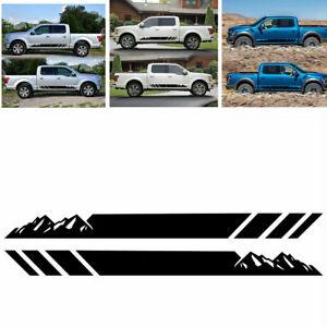 Universal Car Truck Side Skirt Door Racing Graphic Vinyl Sticker Stripes Decal