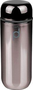 Grunwerg Drink Pod Vacuum Flask 200ml Metallic Black Double Wall LeakProof