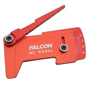 CNC Aluminum Suspension Ride Height & Camber Gauge Tool Red for 1/10 RC Car