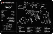 GUN CLEANING GUNSMITH BENCH MOUSE MAT TEKMAT for GLOCK GEN 4 9mm 40 S&W PISTOL