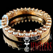 Real Silver Brown Chocolate Lab Diamond 41mm Custom Rolex Watch Bezel Rose Gold