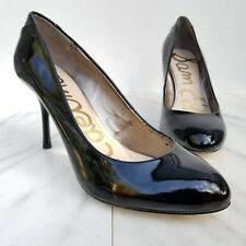 c1662dde83572 Sam Edelman Camdyn Black Pump Patent Leather Snake Print Heels Womens Shoes  8.5
