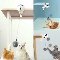 Pet Cat Toys Interactive Automatic Lifting Ball Electric Tease Plush Toys L8F3