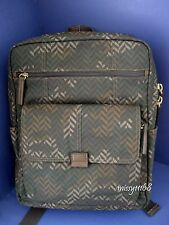 NWT Fossil Field Top Zip Canvas Backpack CA (Camouflage) SBG1056346