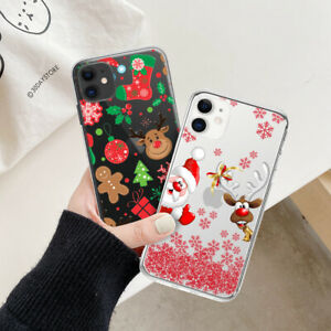 Merry Christmas Cartoon Snowman Case Cover For iPhone 13 11 11 Pro Max XS XR 8 7