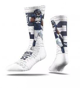 NFL Chicago Bears Khalil Mack Premium Socks - M/L -White/Navy -Strideline - S248