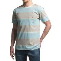 Vissla 'Back Wash' T-Shirt Light Blue / Grey BNWT