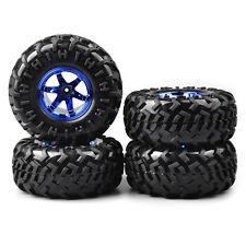 4X 130mm Climbing Crawler Tire&Wheel Rim 01B For RC 1:10 Bigfoot Monster Truck