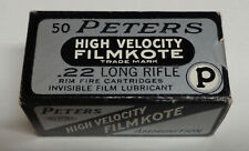 Empty Box Peters High Veloci Filmkote 22 Long Rifle 2283 Ammo Minty Kings Mills