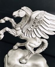 Large Solid Pewter Pegasus Winged Mythical Silver Figurine Statue Sculpture