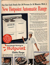 1948 Paper Ad Range Hotpoint Automatic Electric Sealed Heat Oven Broiler Ge