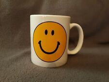 Happy Face Mug White w/ Yellow Smile Face - Emoji your Day w/ Happiness