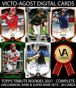 Topps Bunt Tribute Rookies League Inauguration ALL 4 SETS - 50 Cards [BUNT APP]