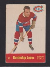 1955-56  PARKHURST # 61  BATTLESHIP  LEDUC  OTG  VG/EX  CONDITION