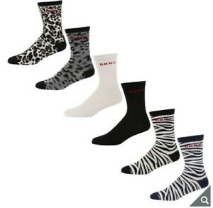 DKNY pack of 6 Women's Socks  - Size 4 - 7