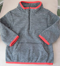 NWT Gymboree Boys Gray w/Red Trim Freece Sweatshirt Size 12-24 Months