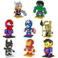 Super Hero Heroes LOZ LNO iBLOCK Micro Mini Building Nano Block Nanoblock Kids