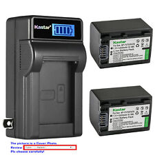 Kastar Battery LCD Wall Charger for Sony Original NP-FV70 AC-VQH10 BC-TRV BC-VH1