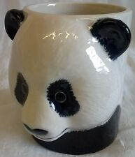 QUAIL GIANT PANDA DESK TIDY, PENCIL, PEN, BRUSH POT OR VASE - WILDLIFE ANIMAL