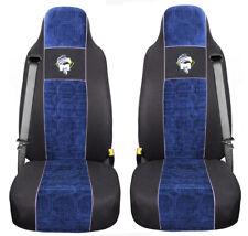 MAN TGA TGX TGS TGM TGL Passform Autositzbezüge Schonbezüge Schwarz-Blau