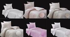 3 tlg. Bettwäsche Bettgarnitur Mako-Satin Baumwolle mit Muster 135x200 155x220
