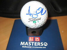 ASHLEY HALL HAND SIGNED MATCH USED TITLIEST BALL UNFRAMED + PHOTO PROOF C.O.A