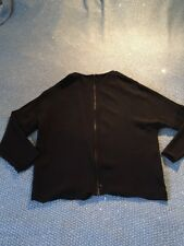 zara collection black coloured zip front top - size S