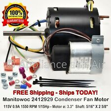 Fan Motor #2412929 Manitowoc 230V, drop-in - no soldering required, Ships Today!