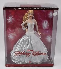 2008 Holiday Barbie Doll New