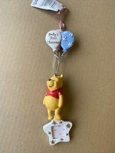 """Disneys Winnie The Pooh """" Babys First Christmas"""" Tree Hanging Ornament Gift -322"""
