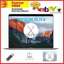 Mac OSX El Capitan 10.11. 4  Install Installer Recovery Disk USB Mac Pro MacBook