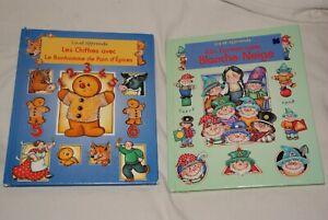 lot de 2 livres éducatifs - les chiffres et les formes