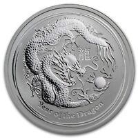 2012 Lunar Dragon 1/2 oz Silver Series II Coin in Capsule