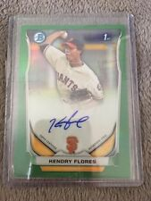 Kendry Flores 56/75 2014 Bowman Chrome Green Refractor Auto Autograph RC Giants